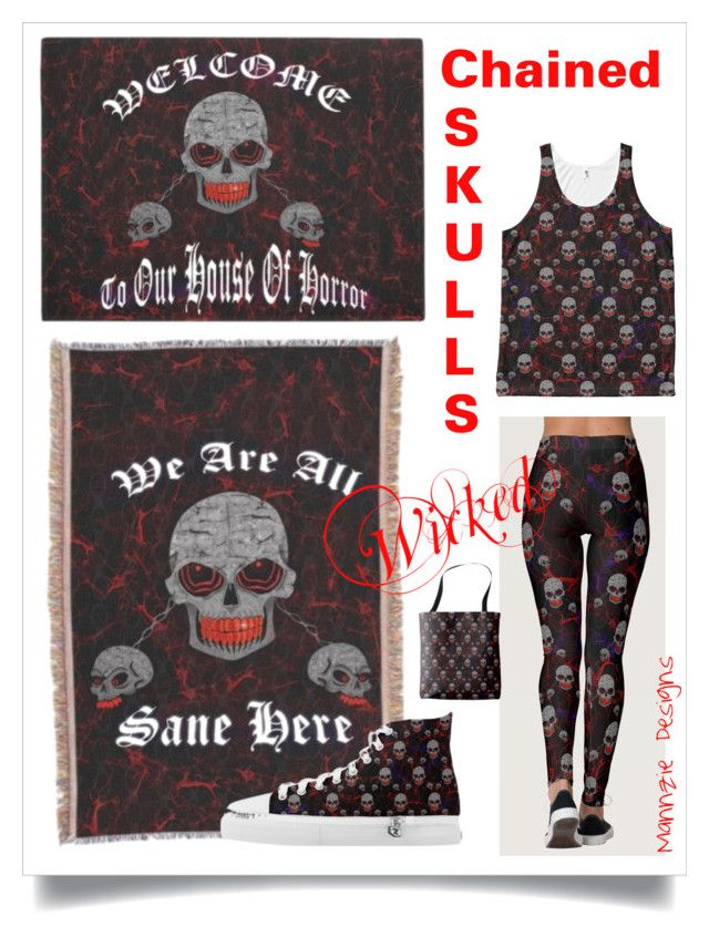 """""""Wicked - Chained Skulls"""" by mannzie on Polyvore featuring art"""
