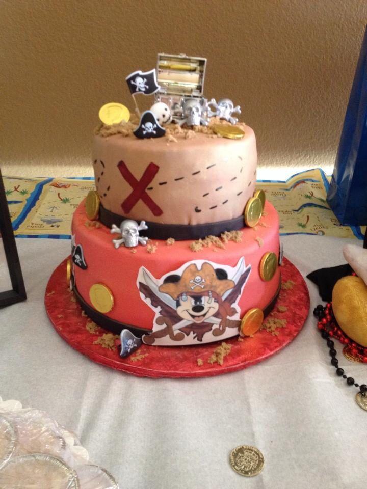 Pirate Mickey Cake!