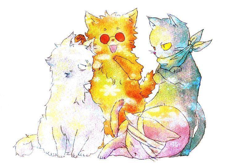 Pixiv Id 924514, Gin Tama, Gin (Gin Tama), Katsura Kotaro, Takasugi Shinsuke, Sakata Gintoki