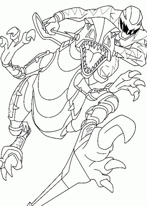 dino thunder coloring pages - photo#15