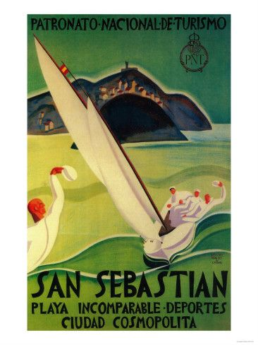 SPAIN - San Sebastian By Hidalgo de Caviedes y Gómez, Hipólito (1902-1994), 1925 #Vintage #Travel