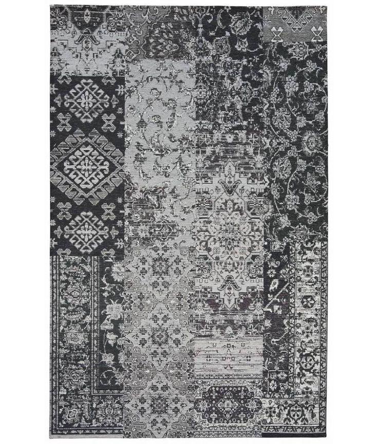 Stijlvol retro tapijt grijs