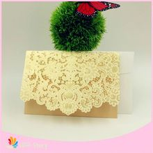 10 sets Romantic Laser Cut lace Wedding Invitation Card Party Birthday Bussiness Souvenirs Wedding Favor Decor party supplies(China (Mainland))