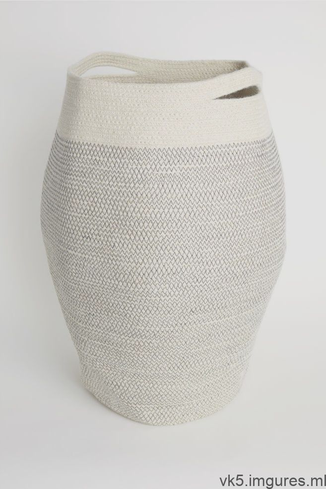 Jute Laundry Basket Natural White Home All H M Us 2 Panier A