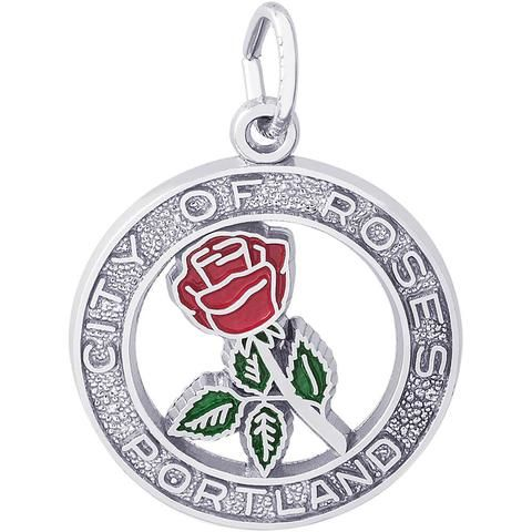 Since 1888 Portland, Oregon has been known as the City of Roses. Add our Portland City Of Roses Charm to relive your first visit. Available in silv...