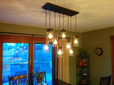 Shop allen + roth Vallymede 7.7-in Bronze Hardwired Standard Multi-Pendant Light with Clear Glass Shade at Lowes.com