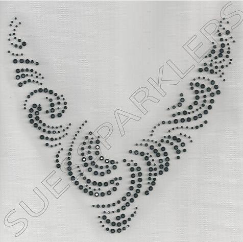 Sue's Sparklers: Cosmo Jet Swirl Neckline