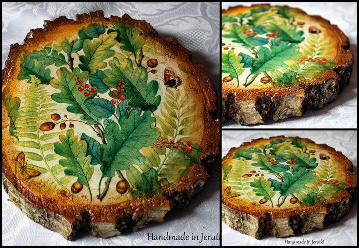 Handmade in Jerutki: Liść dębu Made by Karolina / wooden art