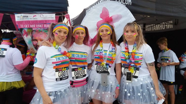 Getting warpaint ready at Color Run NZ March 12th 2017