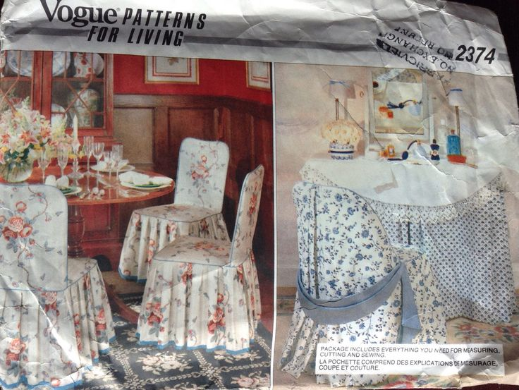 Designer Chair covers Vogue pattern by Followlight on Etsy