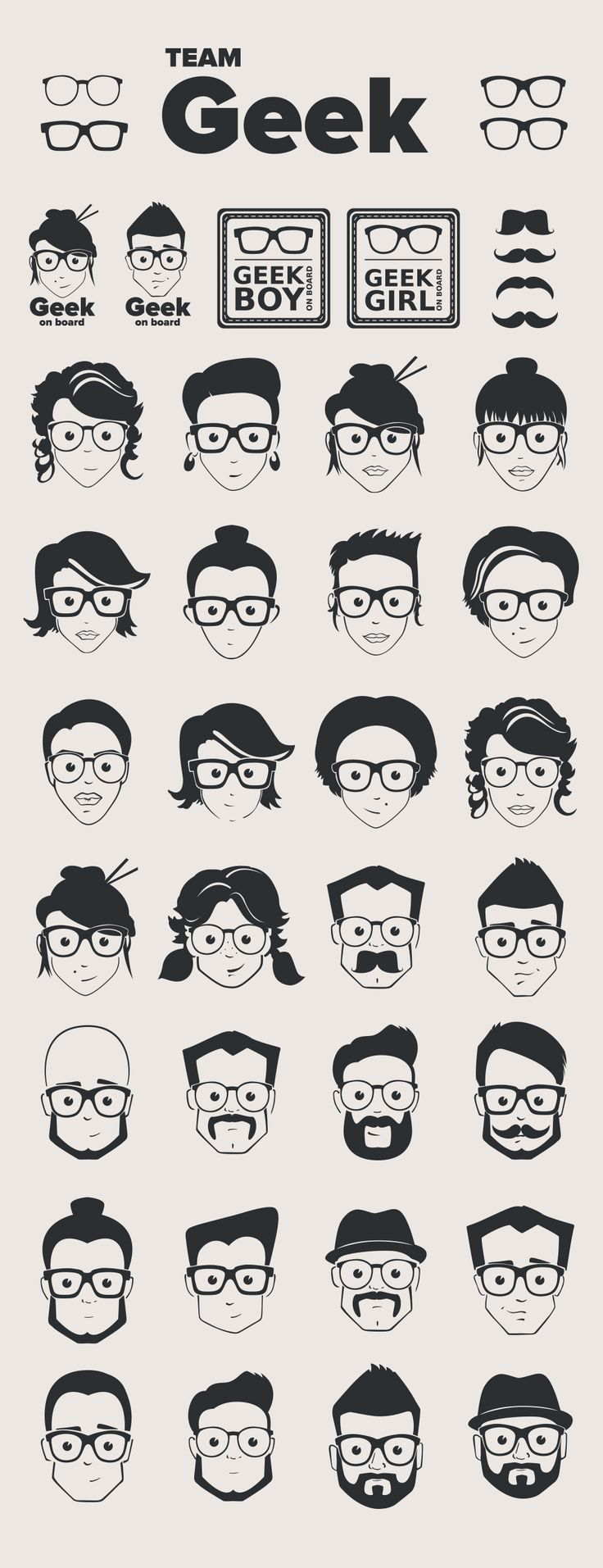 Free Geek Vector Pack (6,07 MB) | EPS File | graphicsfuel.com