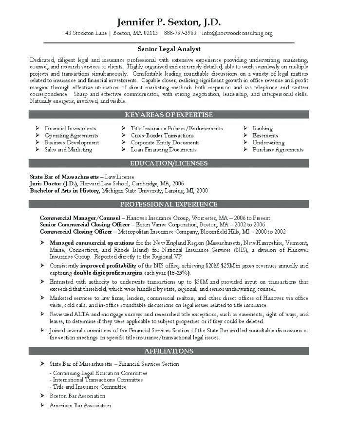 Corporate Resume Examples Attorney Samples Fascinating Legal 4 With Regard To Amazing Law