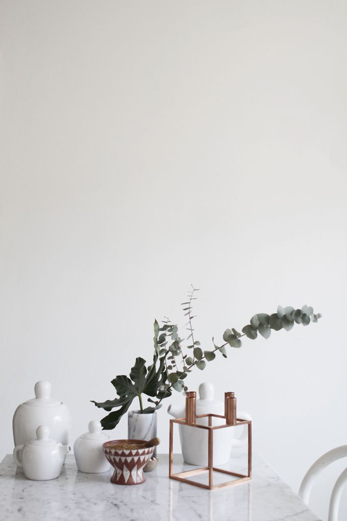 Bulky tea set by Muuto and Kubus candleholder from by Lassen via Varpunen.