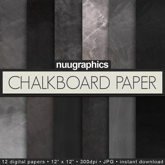 Chalkboard digital paper CHALKBOARD PAPER with by NUUGraphics