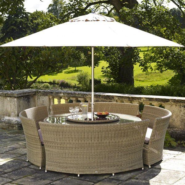 bramblecrest sahara 4 bench rattan garden furniture set