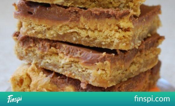 Becky's Recipes: Old School Peanut Butter Bars