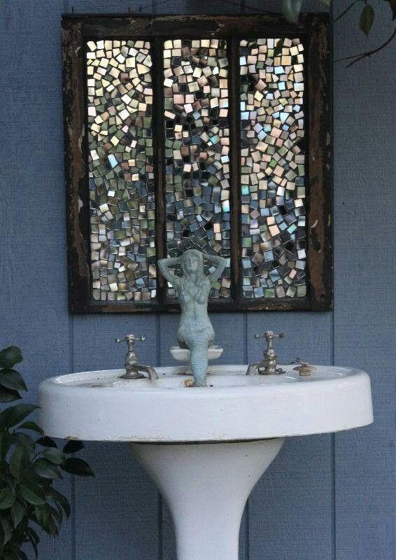 Mirror mosaic garden art  :)