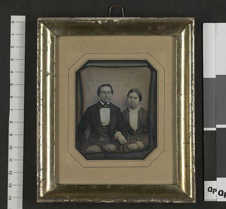 Bror Anton Pahlin og Frederikke Amalie Haltermann daguerreotypi - no-nb digifoto1850 NORWAY