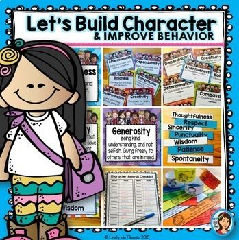 Teach your students about positive character traits and improve their behavior in the process. This easy to implement program is perfect for classes, or students, that struggle with social skills. Focus on one character trait per week, use the posters, armbands, awards, and worksheets to motivate your students. Watch how their behavior improves and their emotional intelligence grows!   For each of the 43 character traits covered in this program, you will find definition posters, armbands…