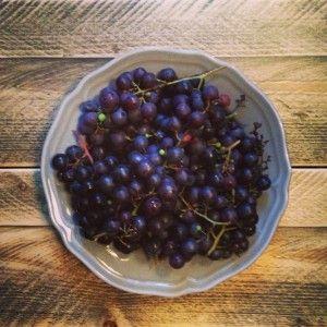 druiven uit eigen tuin van www.puurhomemade.nl