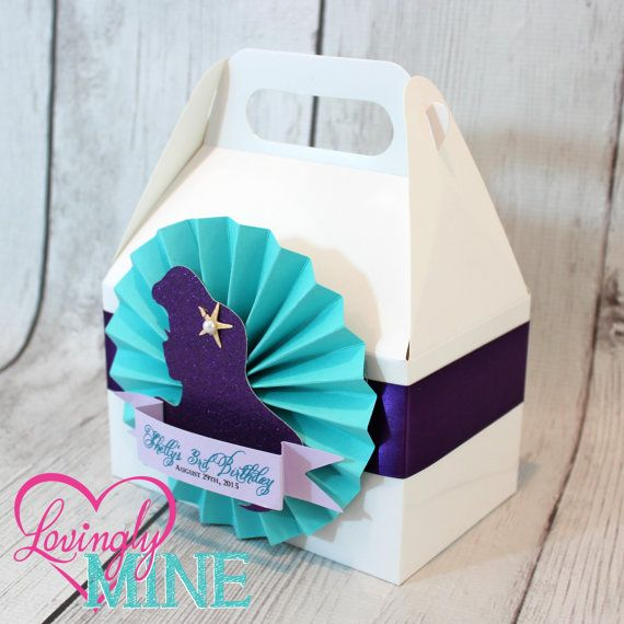 The Little Mermaid Inspired Favor Box Set of 6 di LovinglyMine