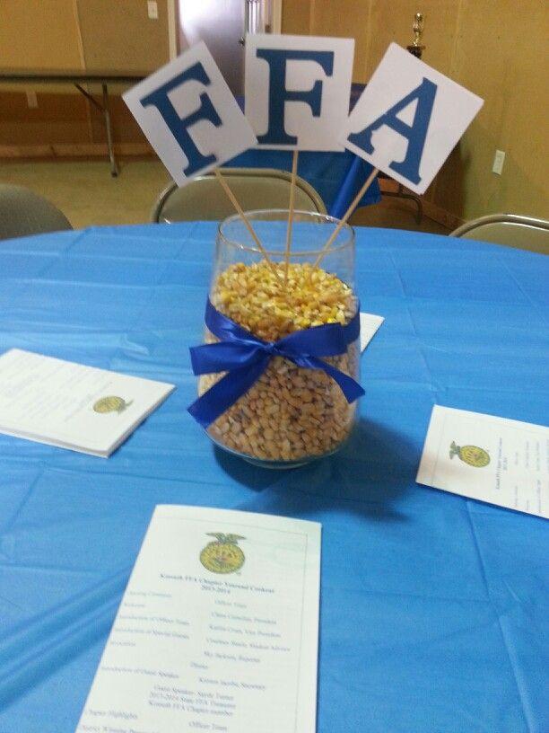 FFA centerpiece for banquet