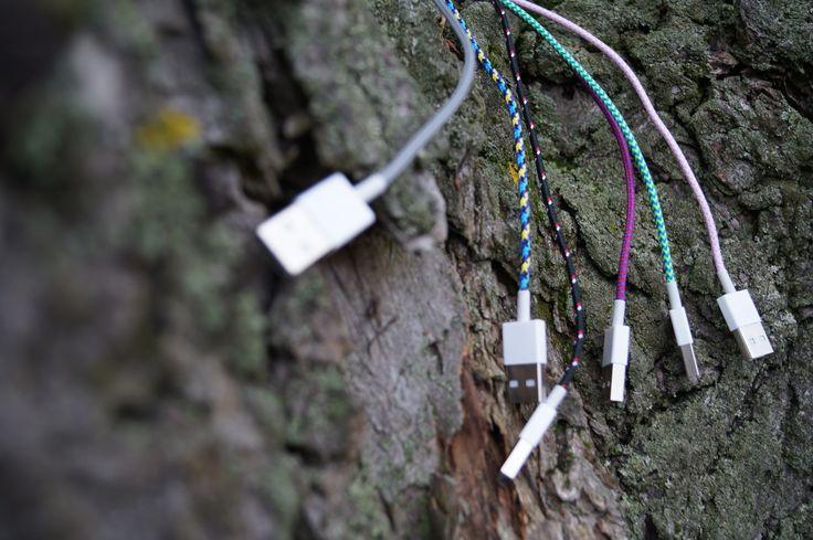 Kolorowe kable w oplocie tekstylnym iphone nokia samsung i inne. Pierwsze w Polsce