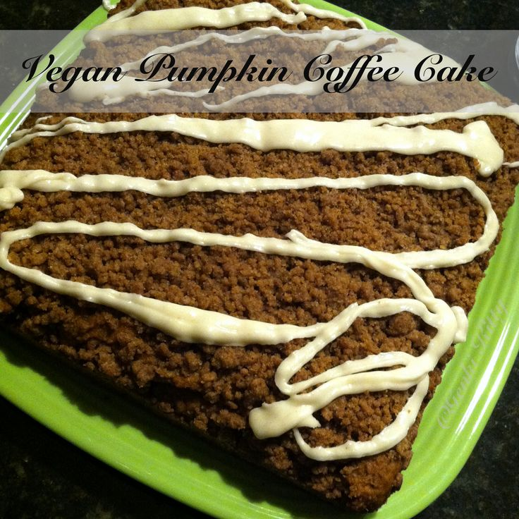 Fall recipe vegan pumpkin coffee cake