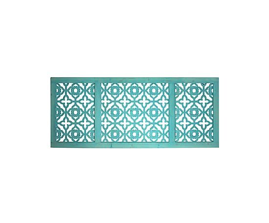 Testiera letto in paulownia turchese, 170x70x5 cm