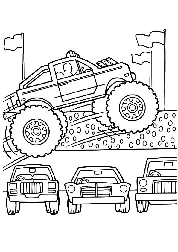 Print Coloring Image Momjunction With Images Monster Truck