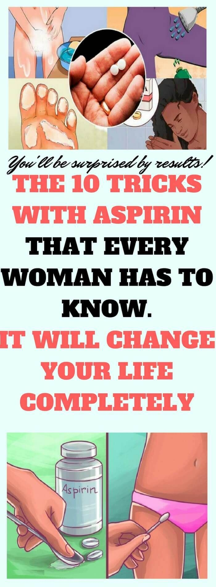 Aspirin is one of the most commonly used drugs nowadays. Taking aspirin is a great way to kill a headache, relieve fever, ease tooth pain, or to prevent a heart attack or stroke in people with clotting disorders. #haircolor #beauty #hair #facial #skincare #skin #acne