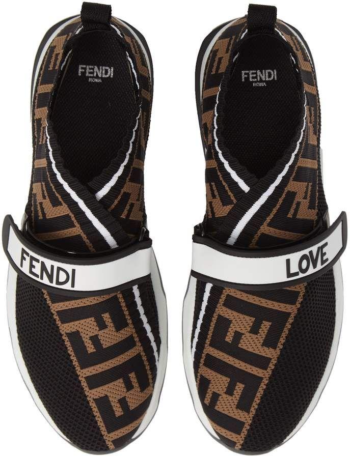 Fendi Rockoko Knit Sneaker (Women