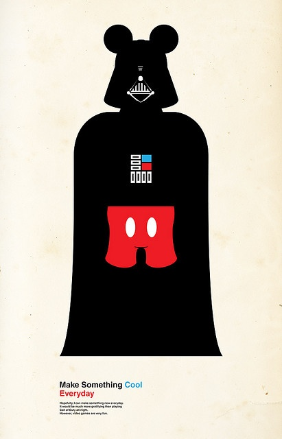 Darth Mickey by oliveroliverbarrett: Disney LucasFilms StarWars