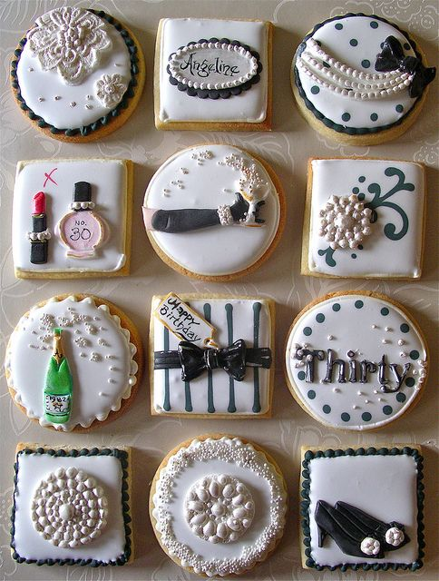 Champagne & pearls cookies by nice icing, via Flickr
