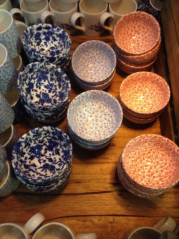 Heals burleigh patterned bowls