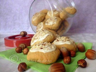 Biscotti al caffe' glassati, ricetta dolce. by dolcearcobaleno