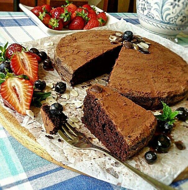 Crazy cake al cacao senza latte -senza uova- senza burro- senza lievito -