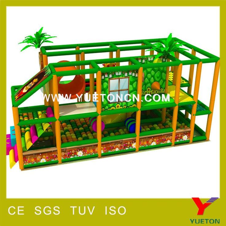 http://www.yuetoncn.com/261-Jungle-theme-indoor-playground.… Jungle theme indoor playground Size (L*W*H) 3mx6m  Materials Plastic parts: LLDPE imported from Korea, high temperature resistance, innocuity. Iron parts: galvanized steel pipes, wall thickness of 2.2 mm conforming to the National standard GB/T3091-2001, with 0.45 mmPVC foam coated Soft parts: innermost—wood; middle—sponge; outmost—PVC Mat: EVA, different size and color for your selection Installation Professional CAD instruction…