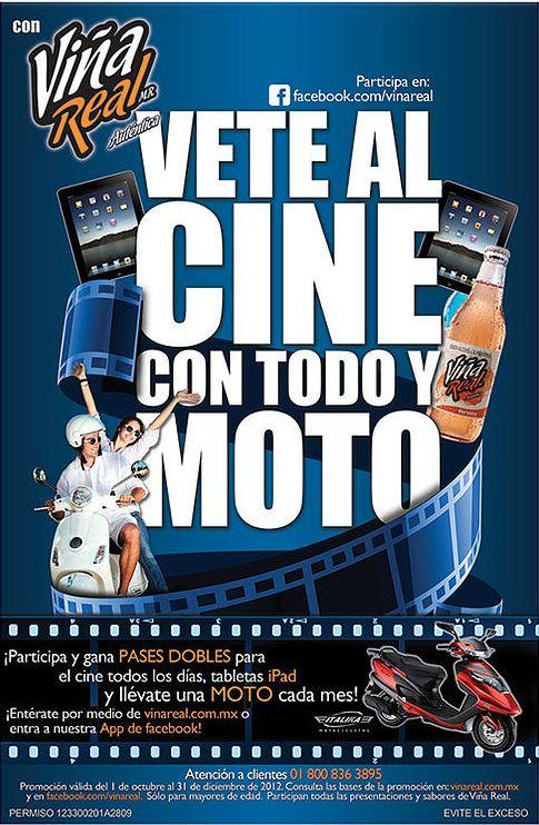 """Desarrollo de concepto para campaña """"Vete al cine con todo y moto"""" / 2013"""