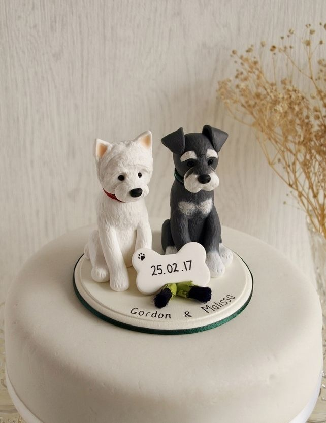 wedding cake topper two dogs best 25 cake topper ideas on fondant 26645
