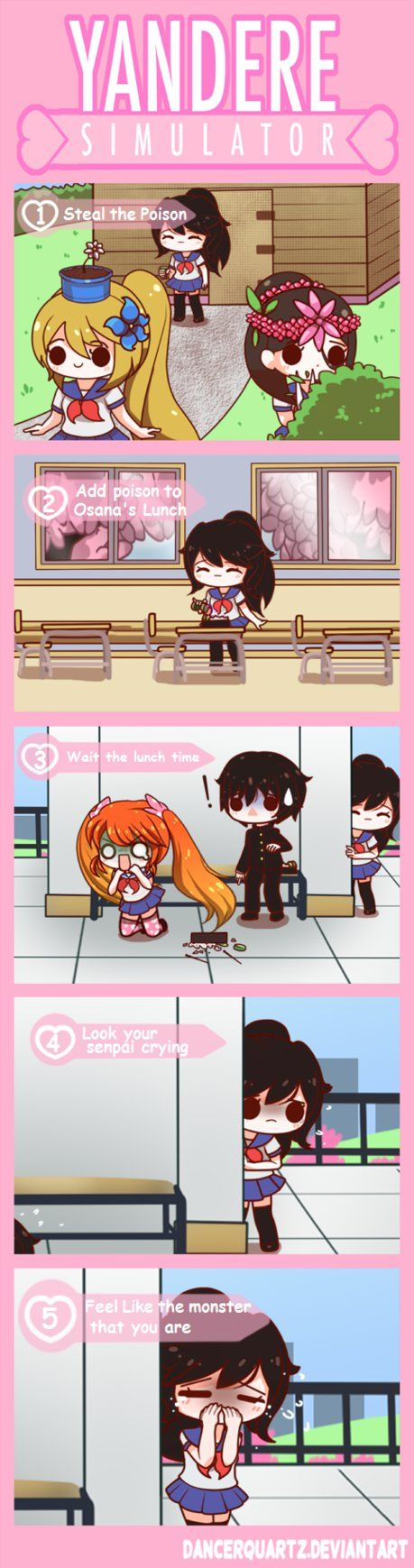 Yandere Comic - Poisoning Method by DancerQuartz.deviantart.com on @DeviantArt