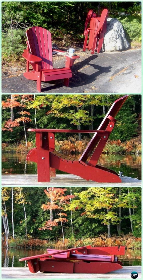 DIY Folding Adirondack Chair Free Plans and Instructions