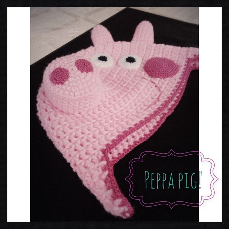 Best crochet peppa images on pinterest jpg 736x736 Papercraft peppa pig hat 6498a4461bf
