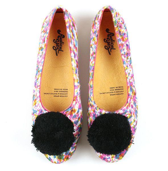 Radical Yes - Double Wonder Pony Paint Splash Pom Pom Shoe