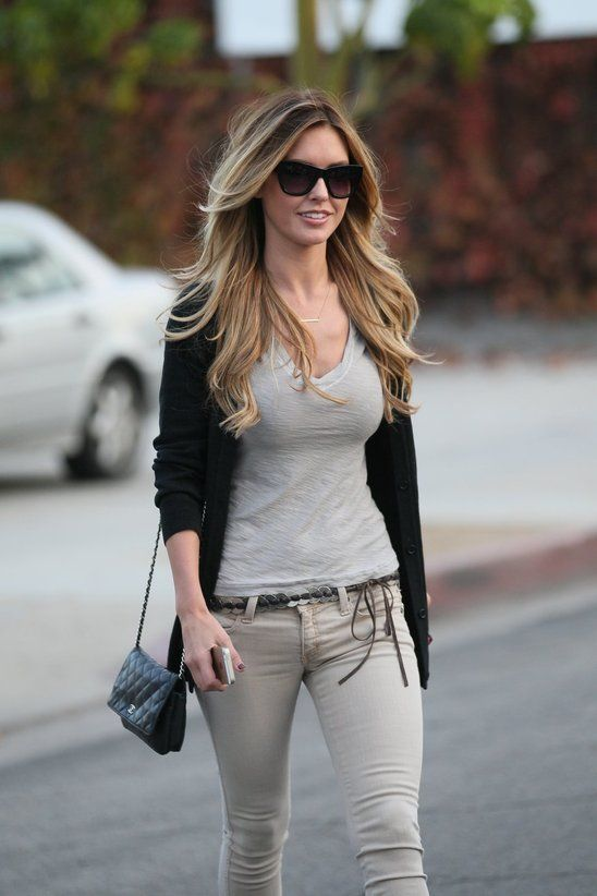 Audrina Patridge Looked Absolutely Stunning When Leaving The Hair Salon! | Posh24.com