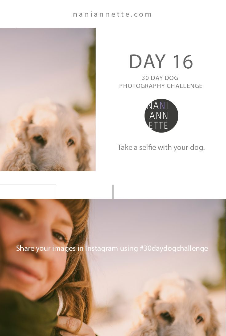 Day 16 of 30 Day Dog Photography Challenge  Take a selfie with your dog.  Join the fun and share your images in Instagram using #30daydogchallenge.