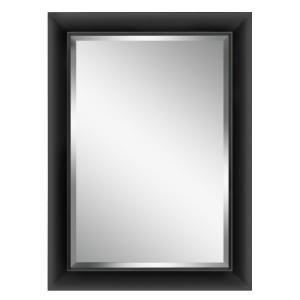 wood grain black framed mirror deco mirror 42 12 in x 30 12 in