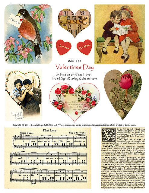 Free To Use Valentine's Day Collage Sheet