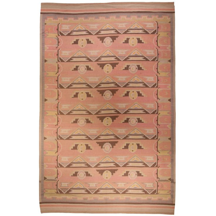 Scandinavian Area Rug | From a unique collection of antique and modern russian and scandinavian rugs at http://www.1stdibs.com/furniture/rugs-carpets/russian-scandinavian-rugs/