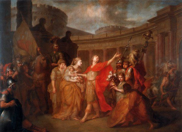 Parting Of Hector And Andromache 1773 Painting Greek Roman